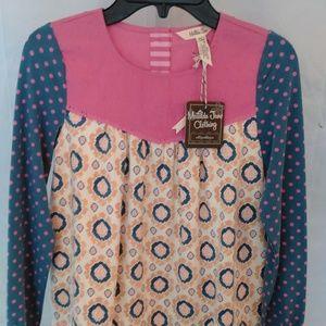 Matilda Jane Clothing Pretty Colored Circle Shirt